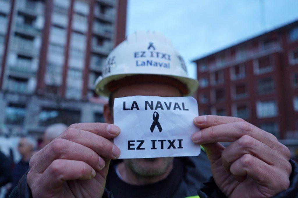 Manifestación La Naval de Sestao