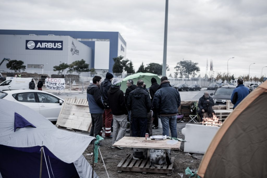 Huelga Airbus Illescas