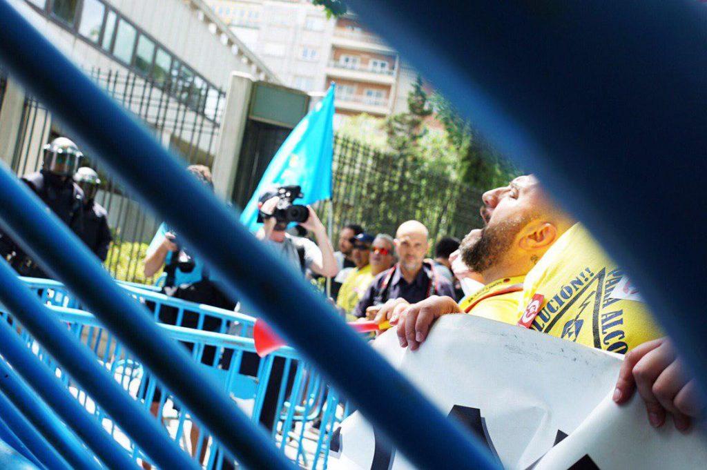 Manifestación Alcoa Madrid