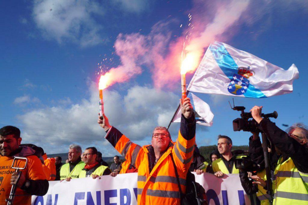 Marcha trabajadores Alcoa
