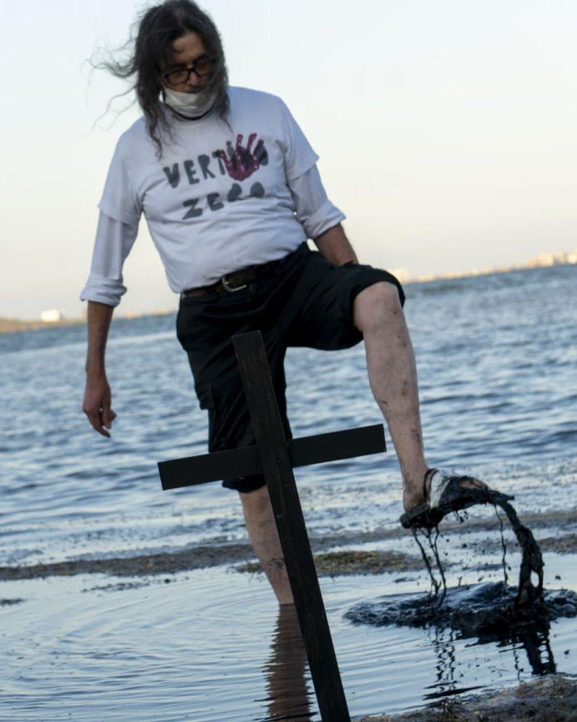 Protestas por la contaminación del Mar Menor, en Murcia. Foto Dani Zaragoza.